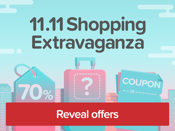 11.11 Shopping Extravaganza Our biggest sale of the year!