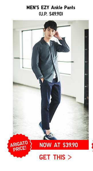 ARIGATO PRICE: Shop Men's EZY Ankle Pants at $39.90