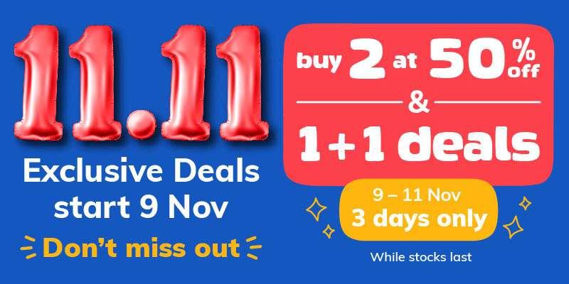 11.11 Exclusive deals