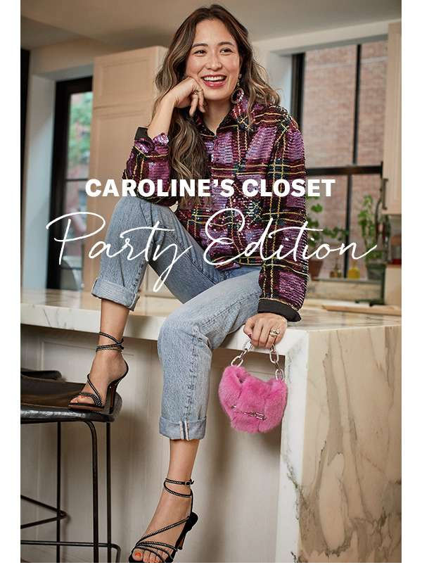 Caroline's Closet: Party Edition - 4 holiday occasions, 4 inspired outfits from Fashion Director Caroline Maguire.