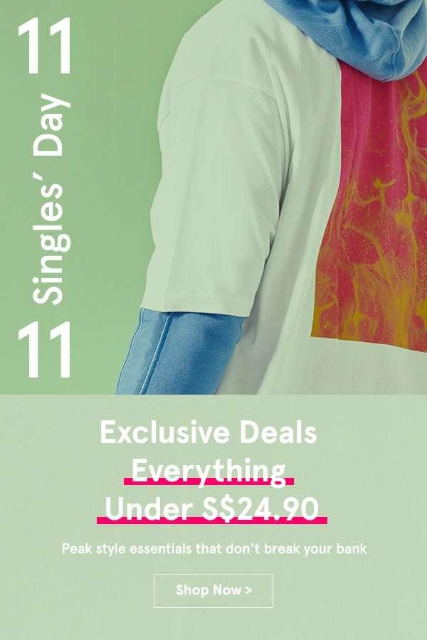 Exclusive Deals: Everything Under S$24.90!