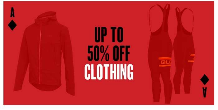 Up to 50% off Clothing