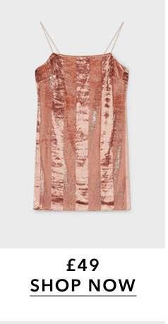 Pink Velvet Stripe Mini Dress