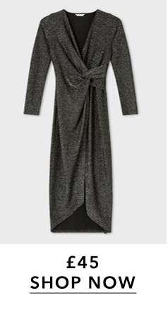 Silver Lurex Twist Maxi Dress