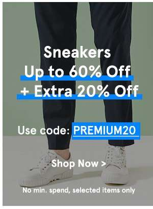 Sneakers Up to 60% Off + Extra 20% Off