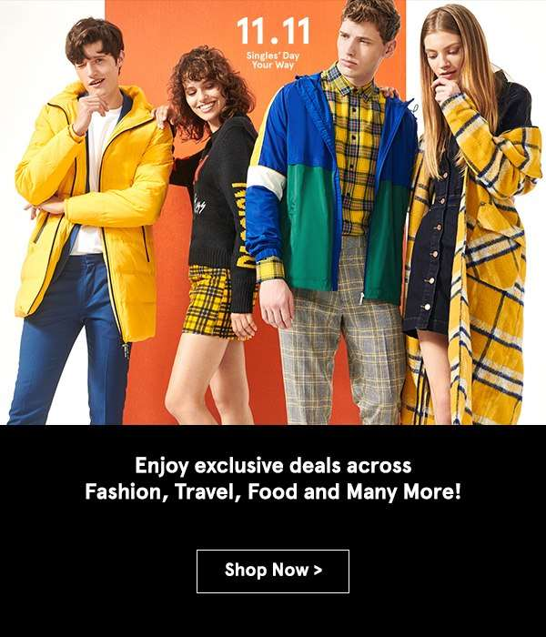 Enjoy exclusive deals across Fashion, Travel, Food and Many More!