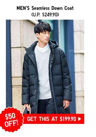 Men's Seamless Down Coat at $199.90