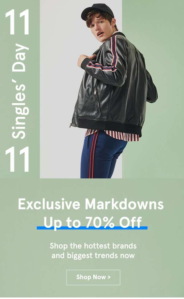 11.11 Sales: Exclusive Markdown Up to 70% Off