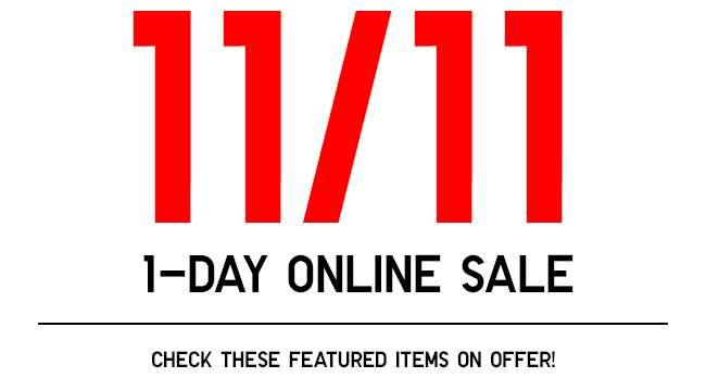 11/11 | 1-day Online Sale!