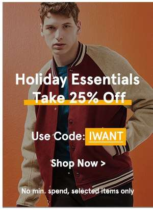 Holiday Essentials: Take 25% Off