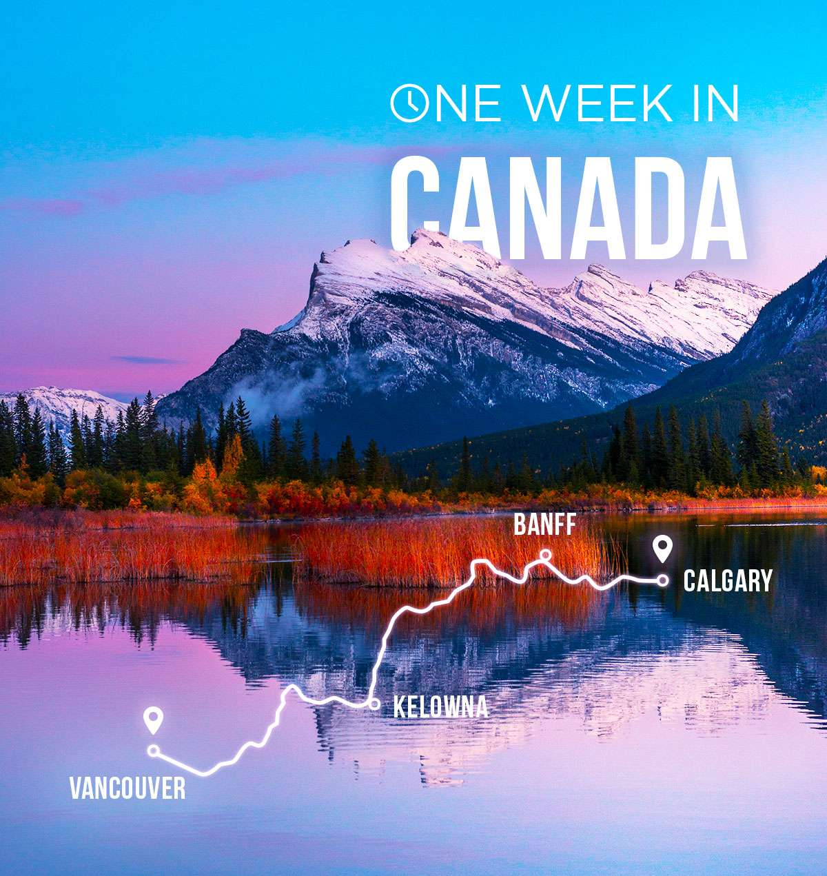 Spend one week in Canada and earn up to 20,000 miles/points!