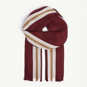 College Stripe merino wool scarf
