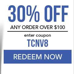 30% Off any order over $100. use code TCNV8. Coupon expires 11/12/18