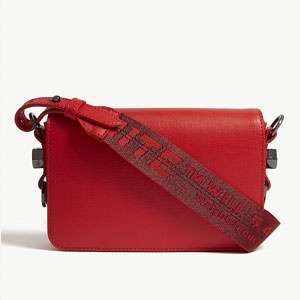 Grained leather cross-body bag