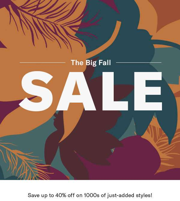 Just added to Sale - Up to 40% off clothing, shoes, and accessories (no hang-ups here!).