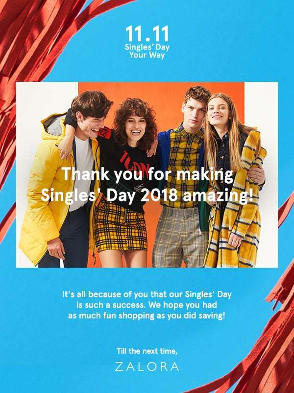 Thank You for making Singles' Day 2018 amazing!