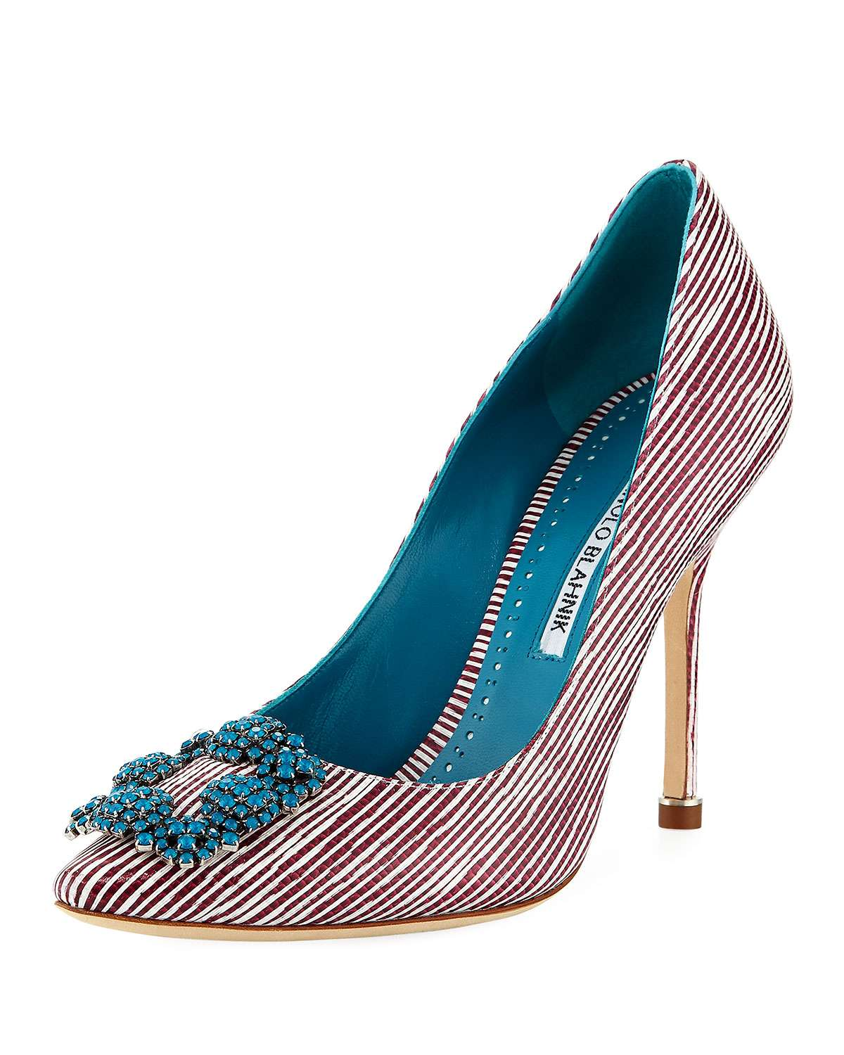 Hangisi 105mm Striped Leather Pump