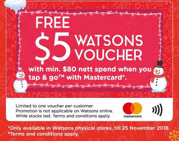 Free $5 Watsons Voucher