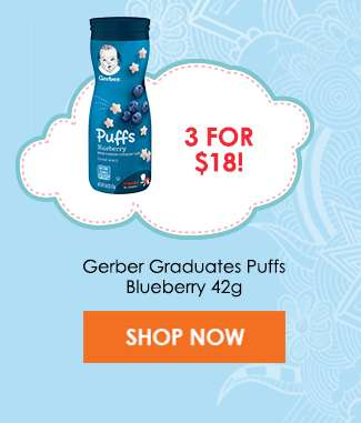 Gerber Graduates Puffs Blueberry 42g (3 for $18)