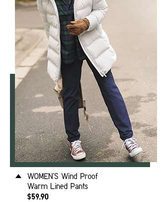 Shop Women's Wind Proof Warm Lined Pants at $59.90