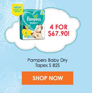 Pampers Baby Dry Tapes S 82S (4 for $67.90)