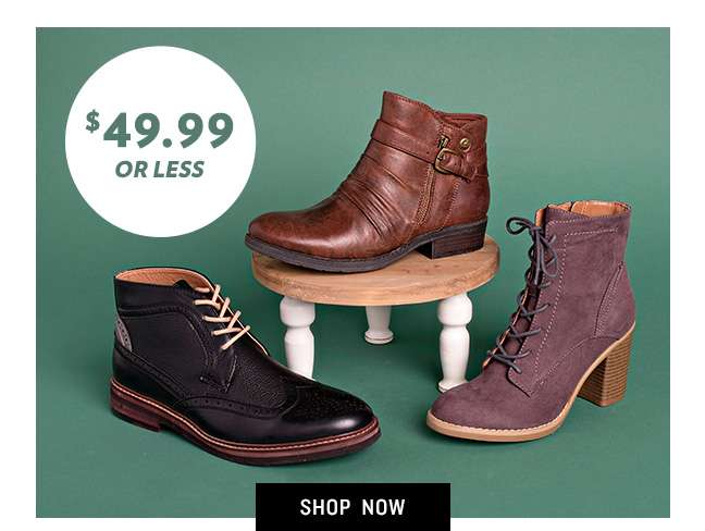 Shop 49.99 or Less Boots