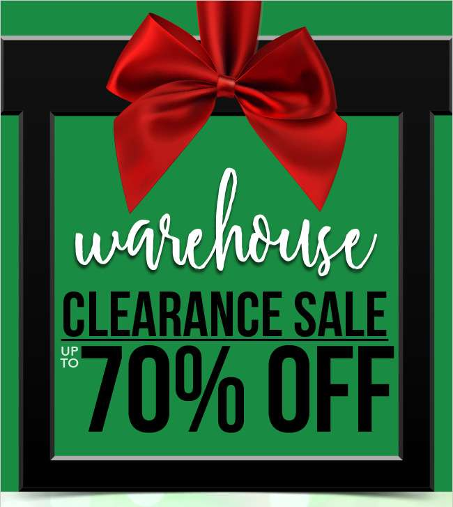 Warehouse clearance sale. Up to 70% off. Shop now.