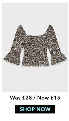 Ditsy Square Neck Blouse