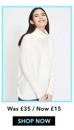 Cream Cosy Roll Neck Knitted Jumper