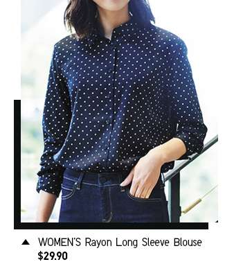 Women's Rayon Long Sleeve Blouse at $29.90