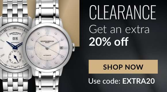 Extra 20% off on clearance items. Use code: EXTRA20