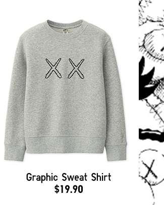Kids' KAWS X SESAME STREET Long Sleeve Graphic Sweat Shirt at $19.90