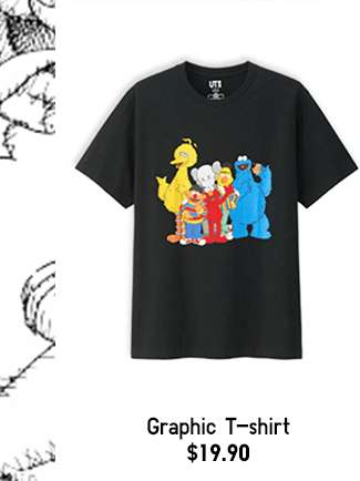 Women's KAWS X SESAME STREET Short Sleeve Graphic T-shirt at $19.90