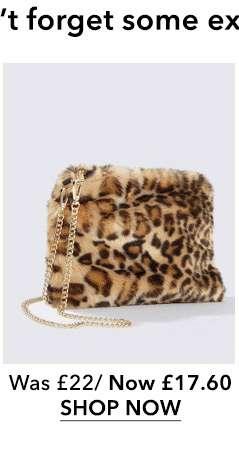 Leopard Faux Fur Cross Body Bag