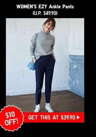 Shop Women's EZY Ankle Pants at $39.90
