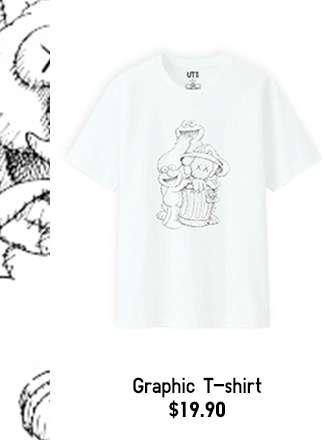 Men's KAWS X SESAME STREET Short Sleeve Graphic T-shirt at $19.90