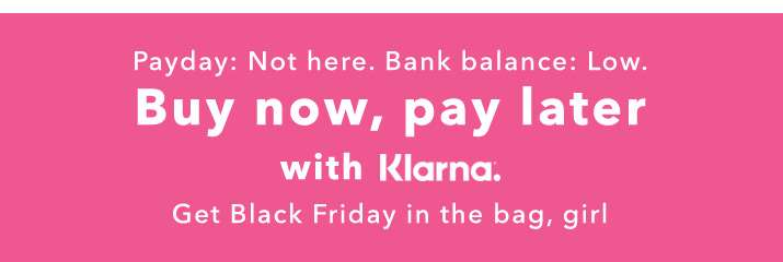Buy now, pay later with Klarna