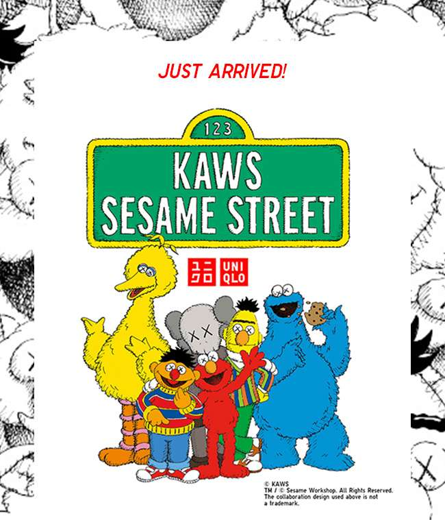 KAWS X SESAME STREET 2018 Fall/Winter Collection is here!