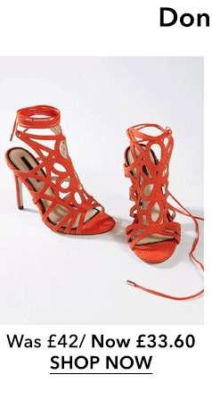 Coral HUN Caged Stiletto Heel Sandals