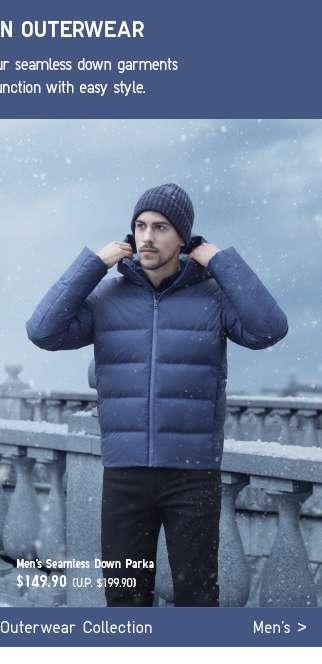 Men's Seamless Down Outerwear