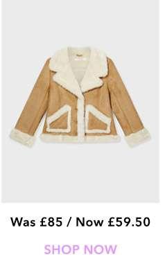 PETITE Tan Shearling Jacket