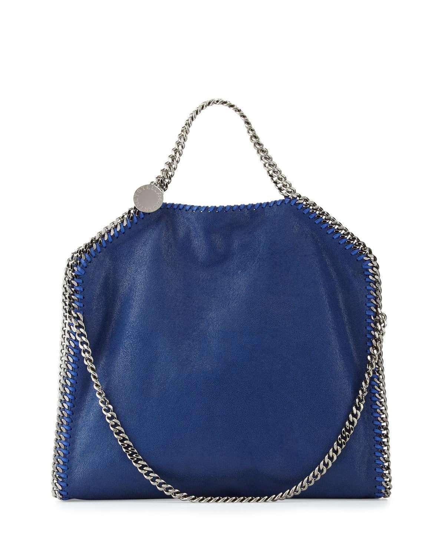 Falabella Fold-Over Tote Bag, Blue Bird