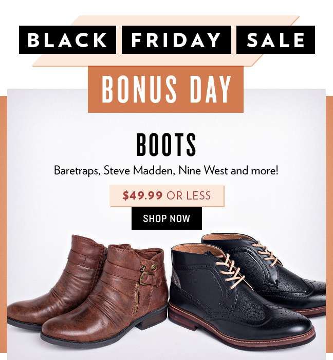 Shop $49.99 or Less Boots