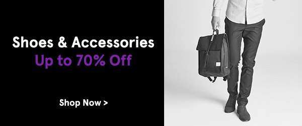 Shoes & Accessories Up to 70% Off