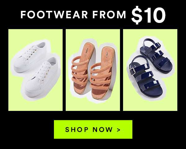 FOOTWEAR FROM $10 - Black Friday 45-75% off ENDS MIDNIGHT - SHOP NOW