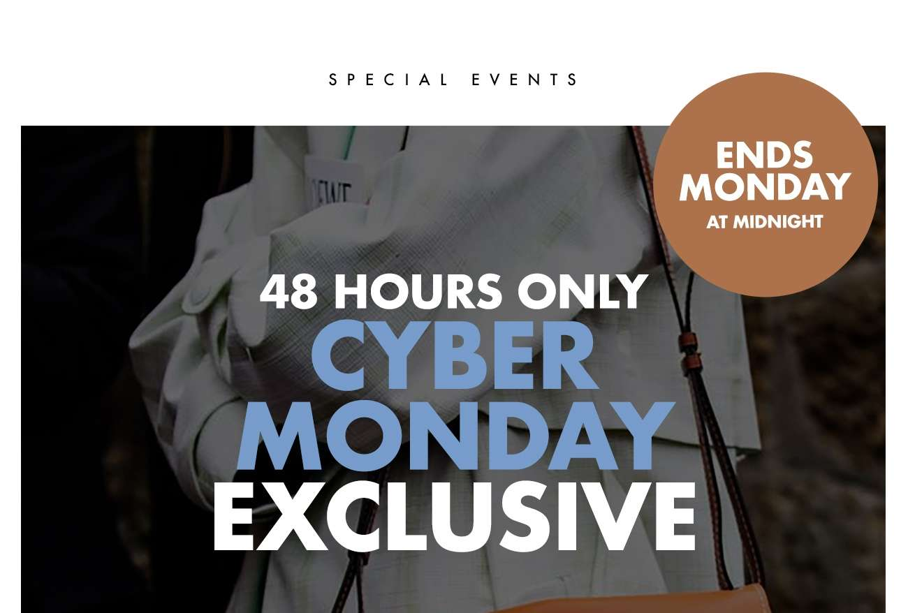 CYBER MONDAY EXCLUSIVE - EXTRA 10% OFF SALE ITEMS
