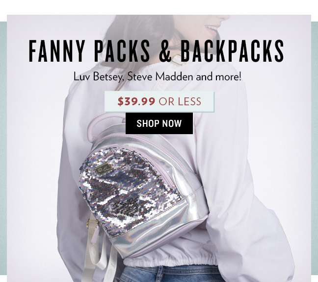 Shop Backpacks & Fanny Packs