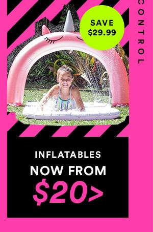 INFLATABLES - NOW FROM $20 - CYBER SALE EXTENDED - ONE DAY ONLY - SHOP NOW