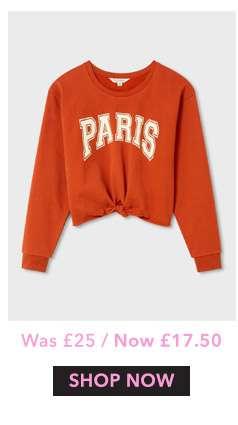 Paris Knot Front Sweat
