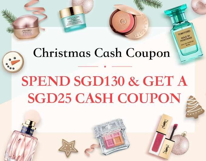 Get a Christmas Cash Coupon with a minimum spend! Ends 2 Dec 2018.
